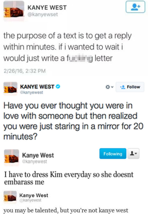 Kanye West deleted Twitter Instagram