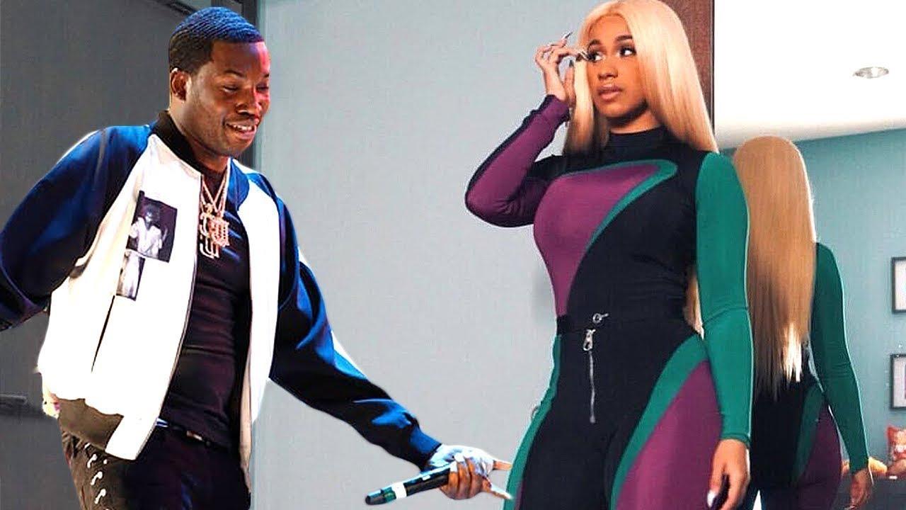 Cardi B & Meek Mill Are Working On A Song Together Amid Nicki Minaj Beef